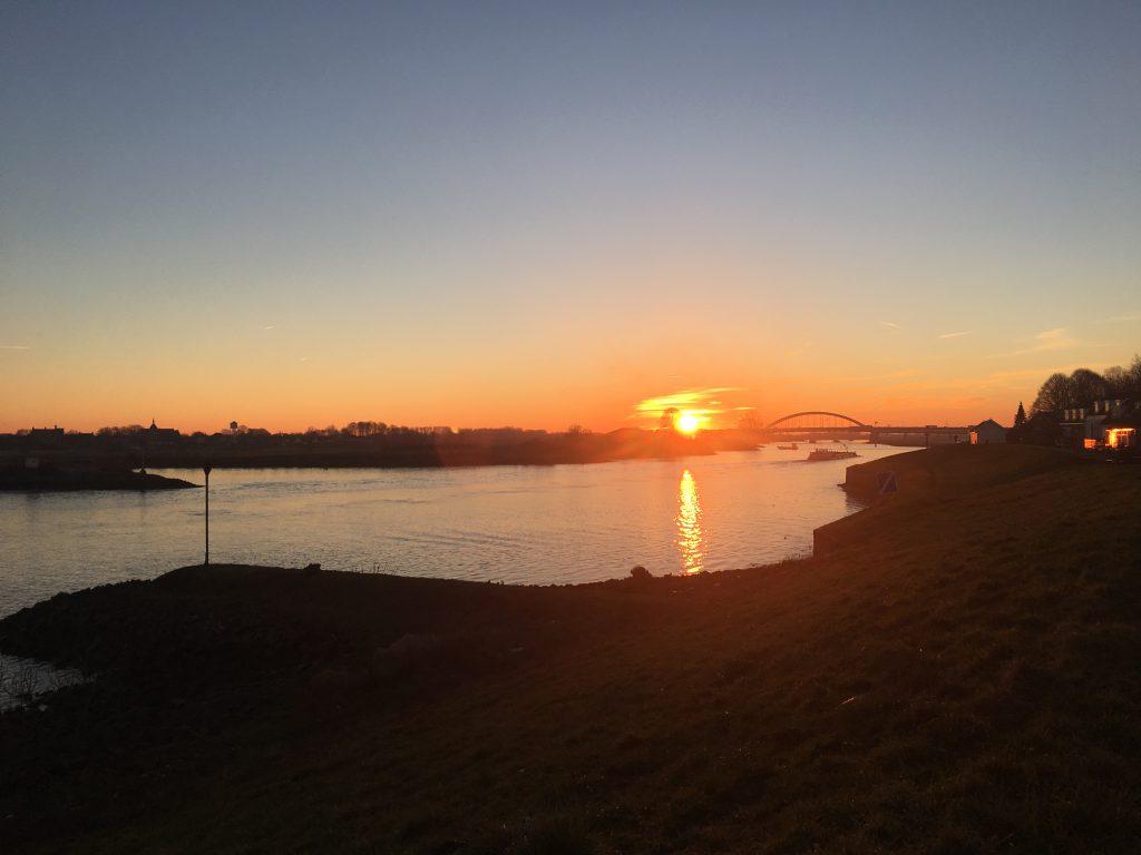 zonsondergang Vreeswijk