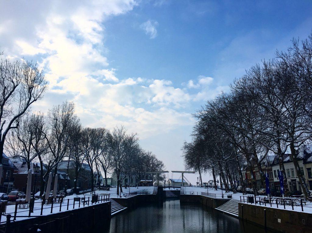 Vreeswijk dorp sneeuw