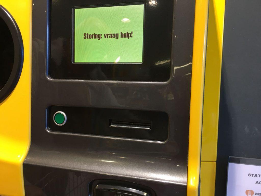 Storing flessenautomaat