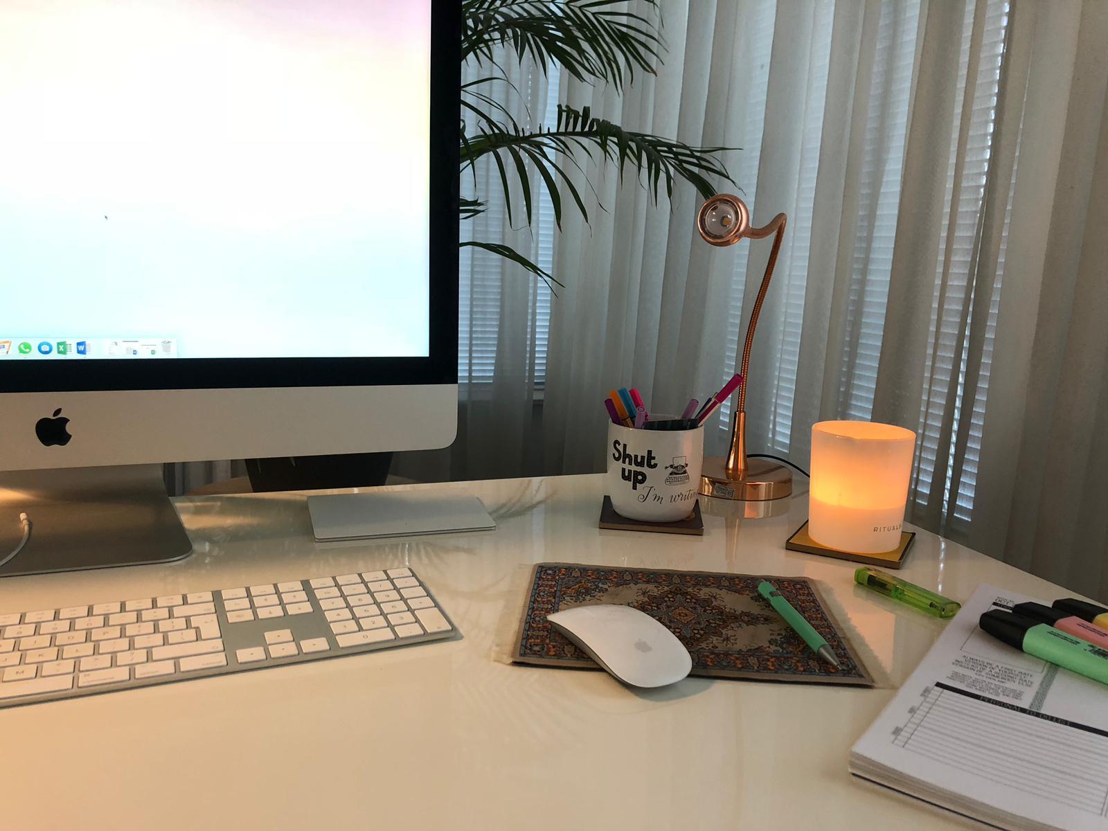 Freelance tekstschrijver werkplek