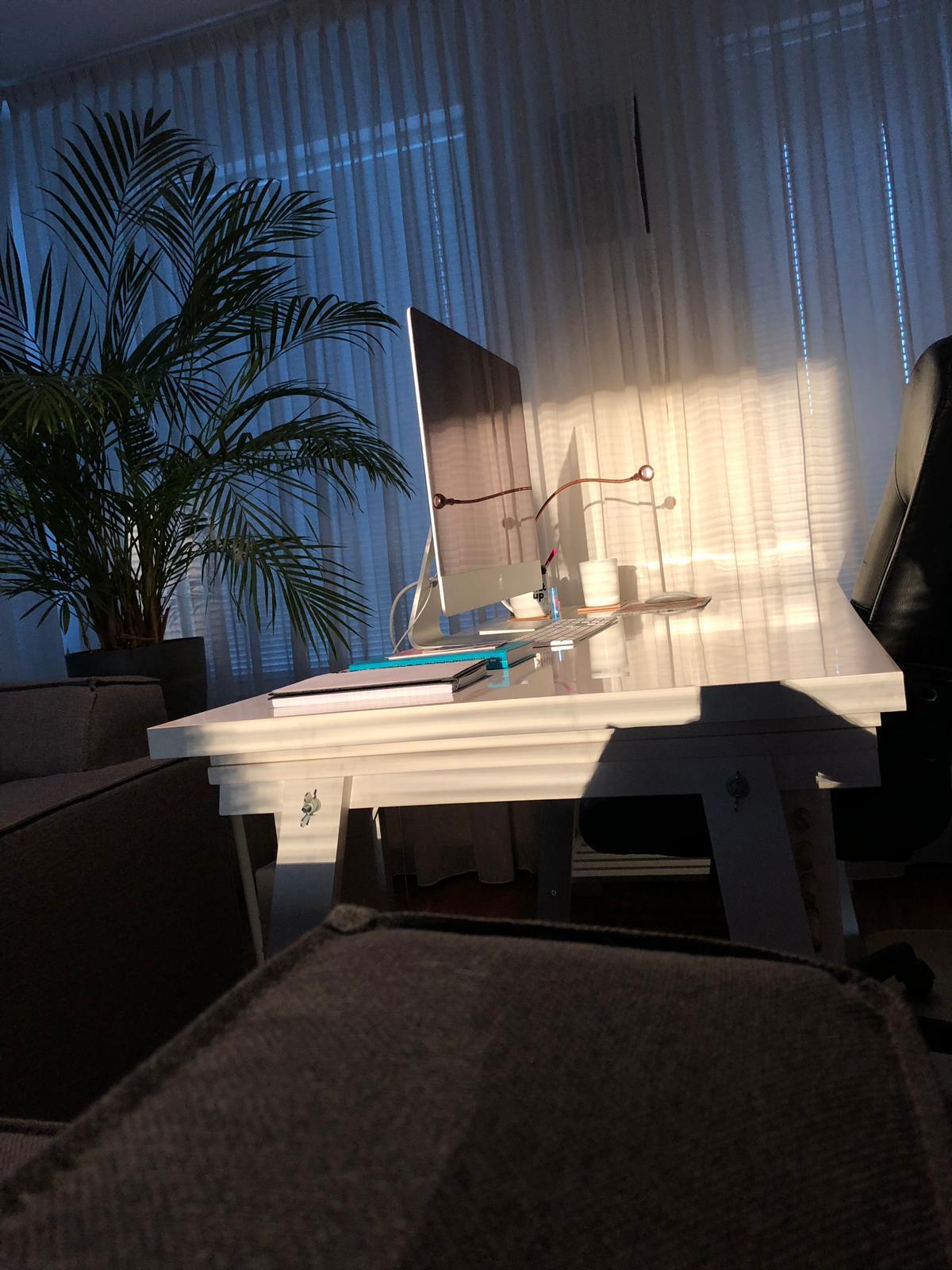 Thuiswerken in de zon
