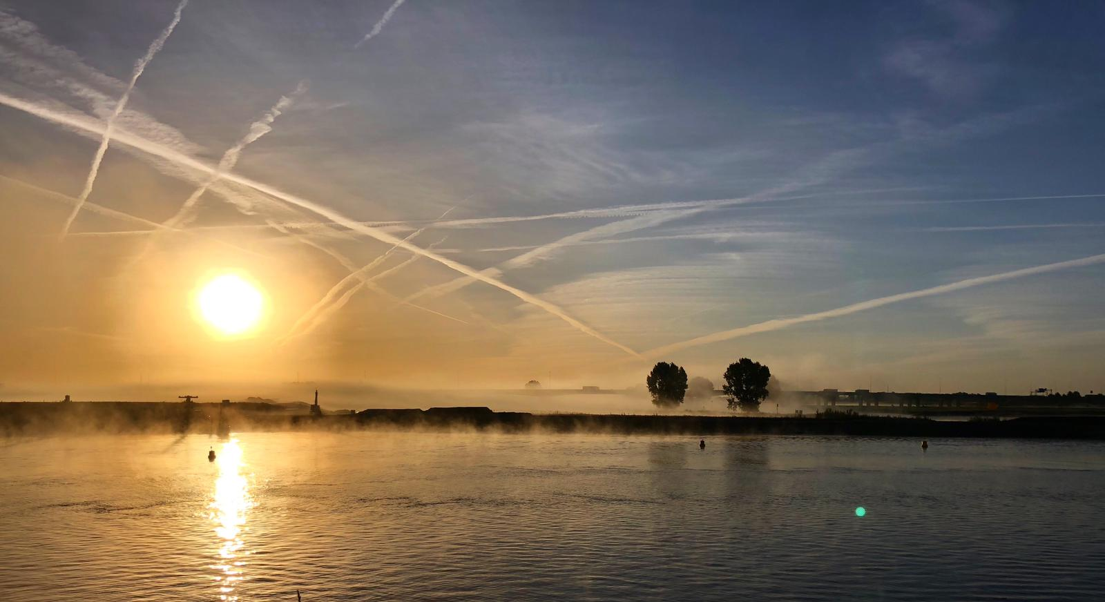 Vreeswijk Lek zonsopgang