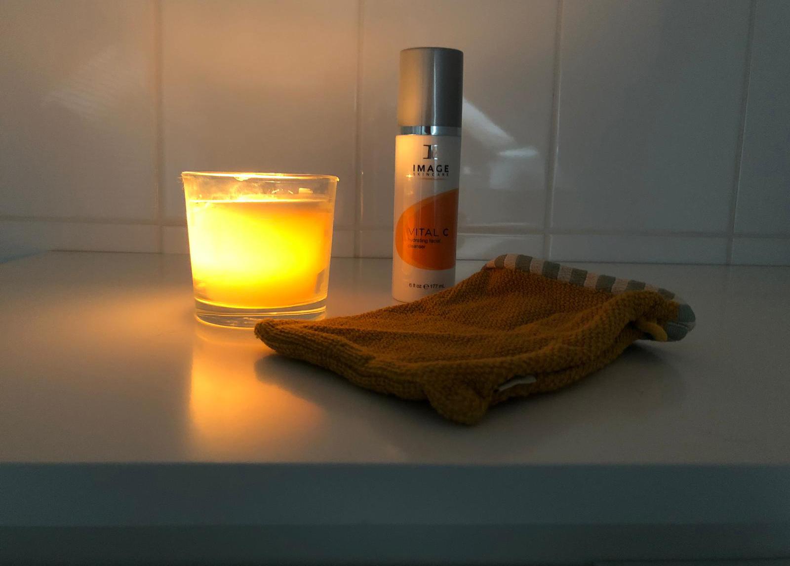 Douchen met een kaars