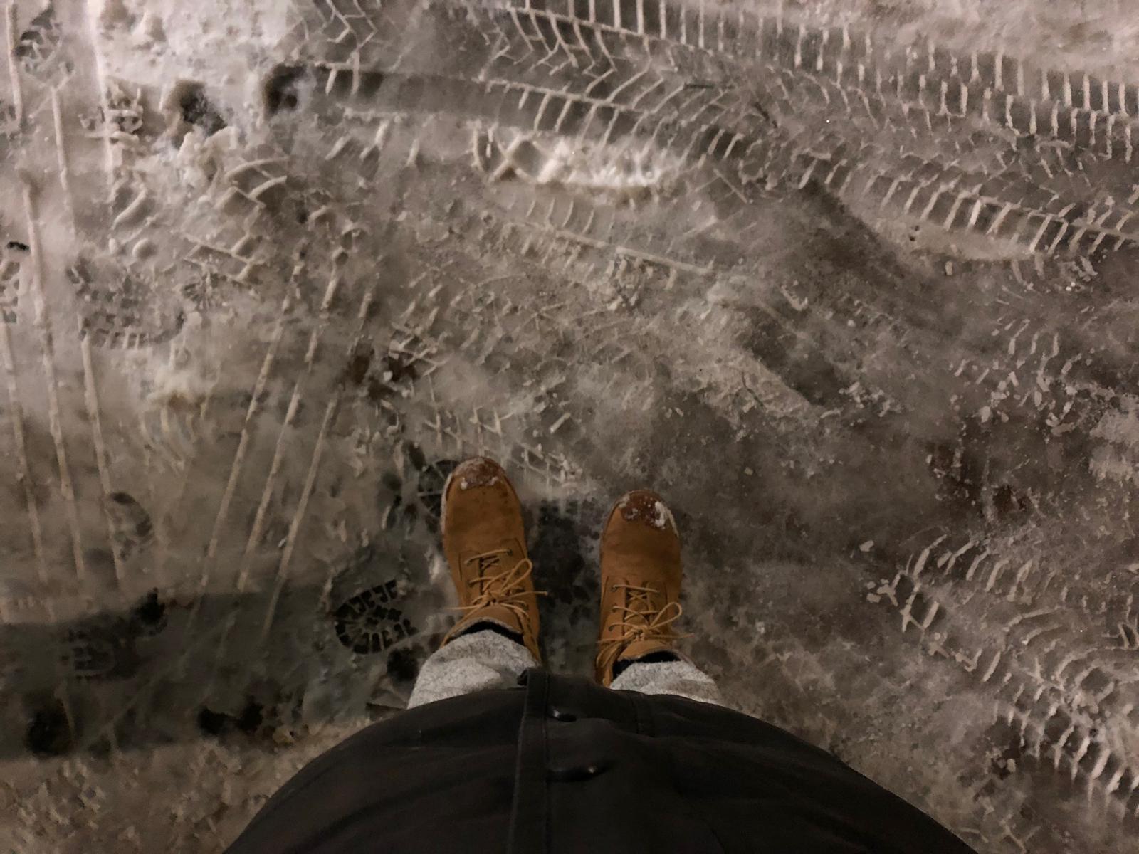 Op glas ijs begeven