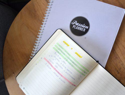 Passion Planner in gebruik