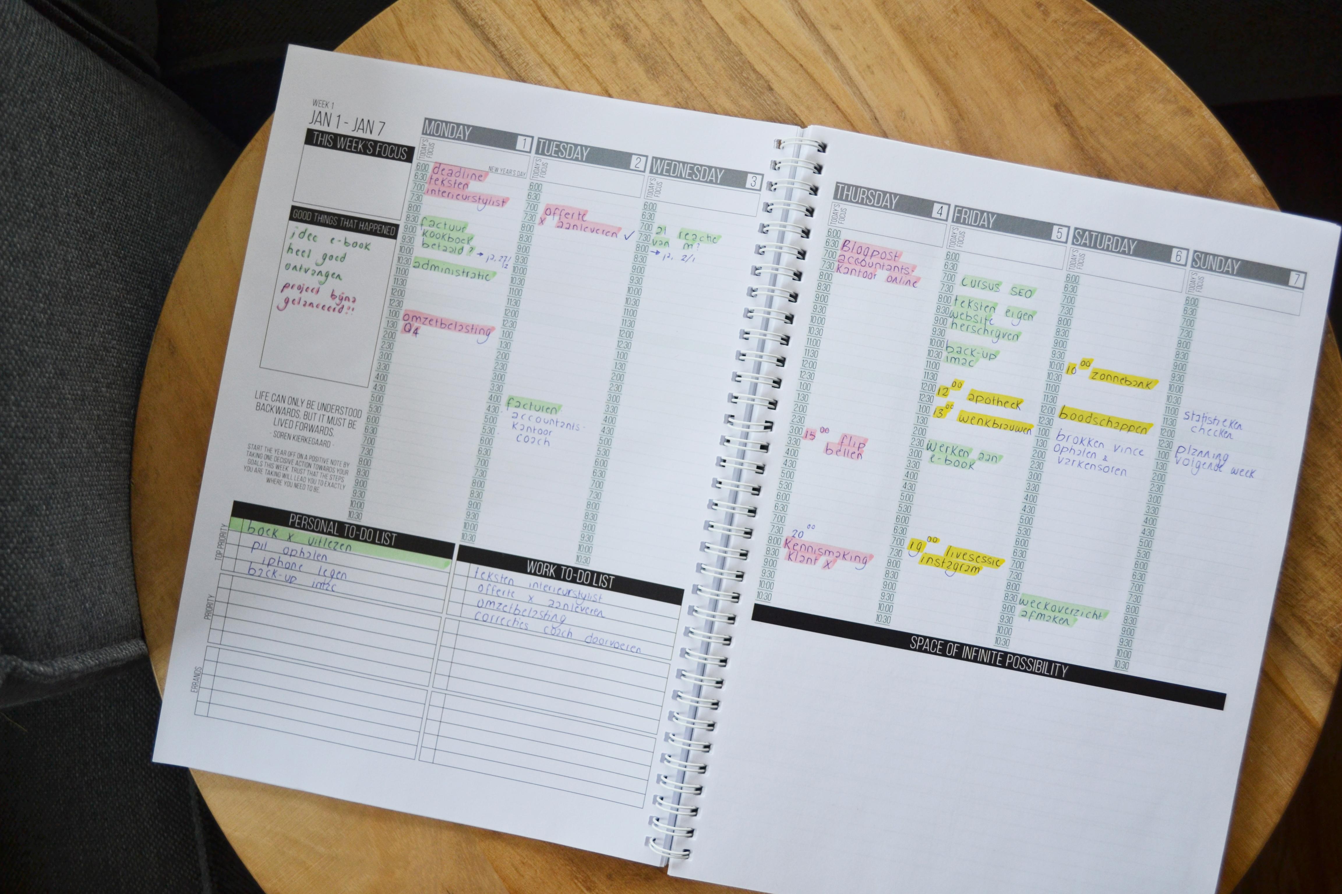 Plannen met de Passion Planner