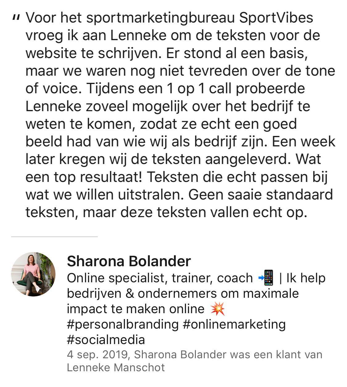 Beoordeling tekstschrijver Gelderland