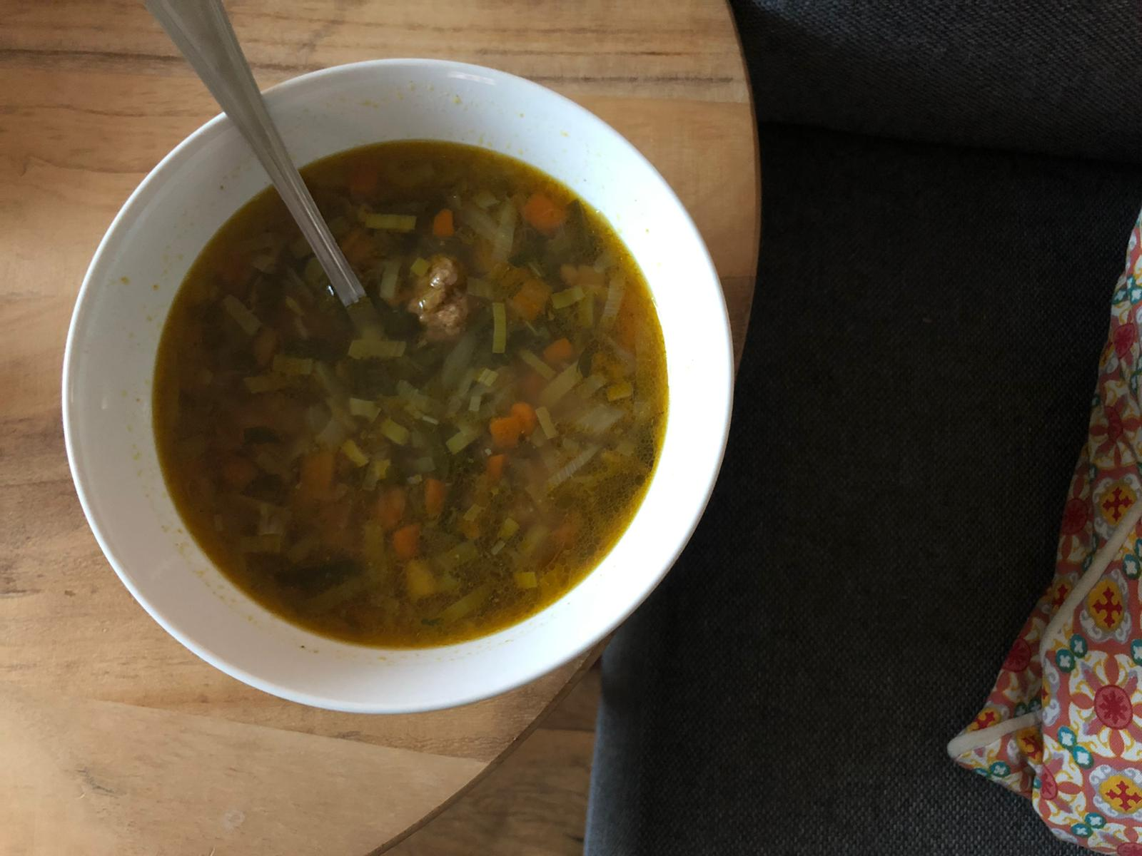 Zelfgemaakte groentensoep
