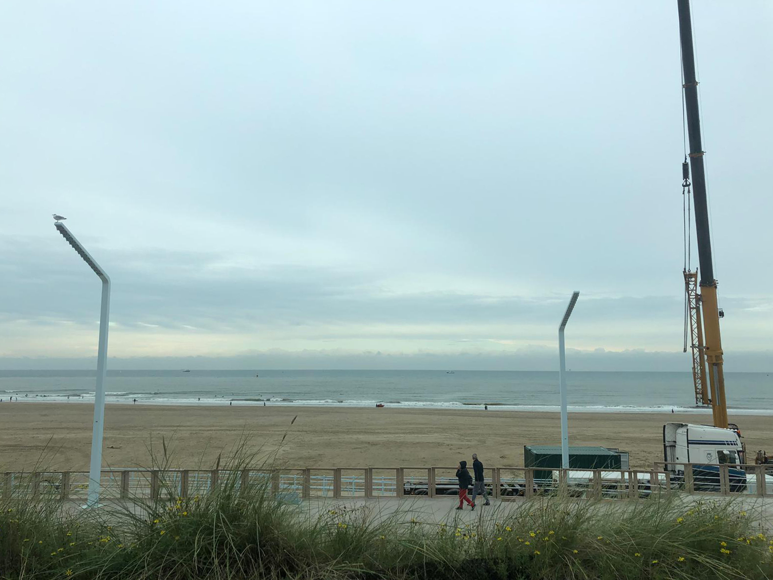Even naar de zee in Scheveningen