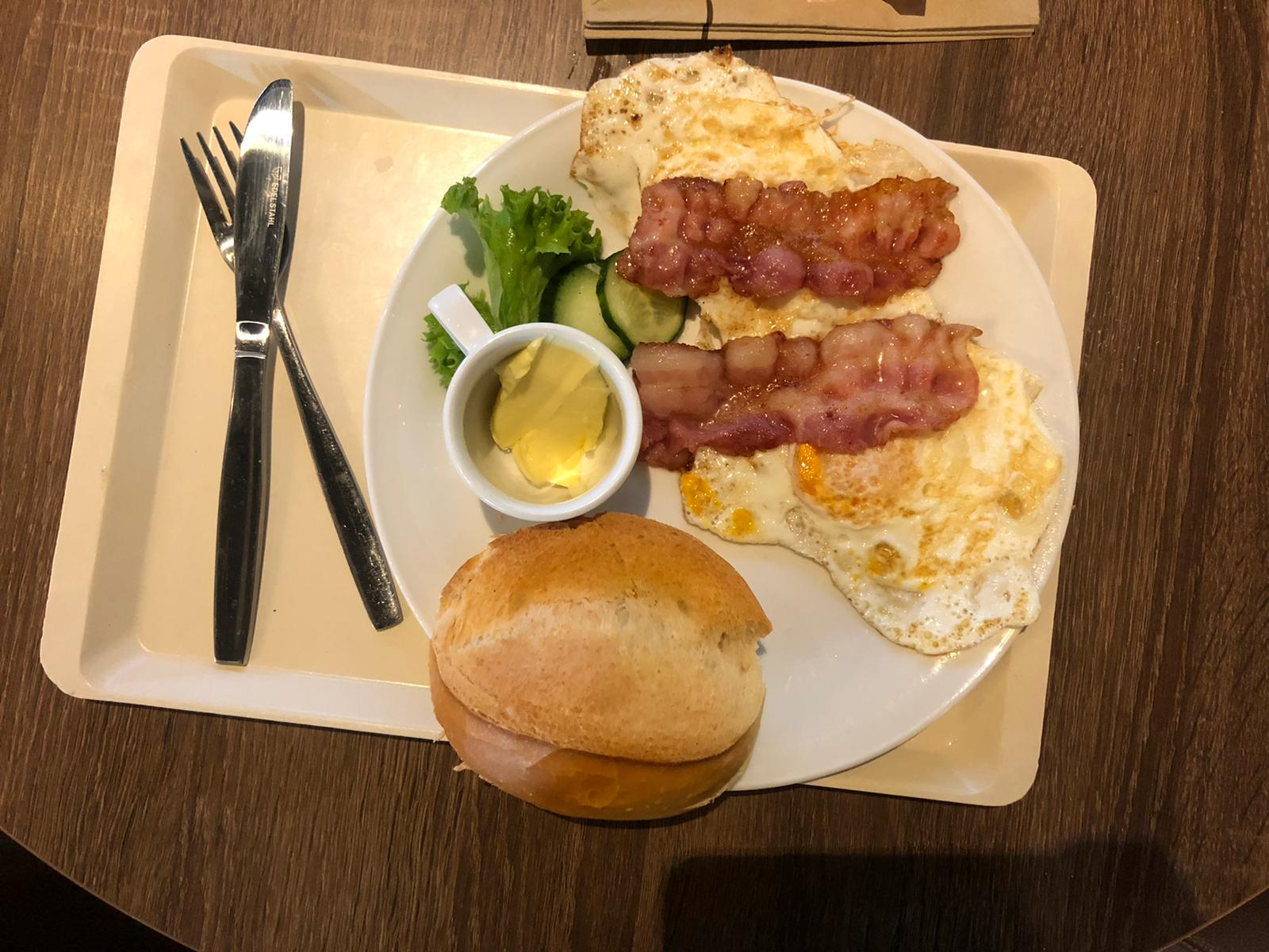 Spiegelei met bacon