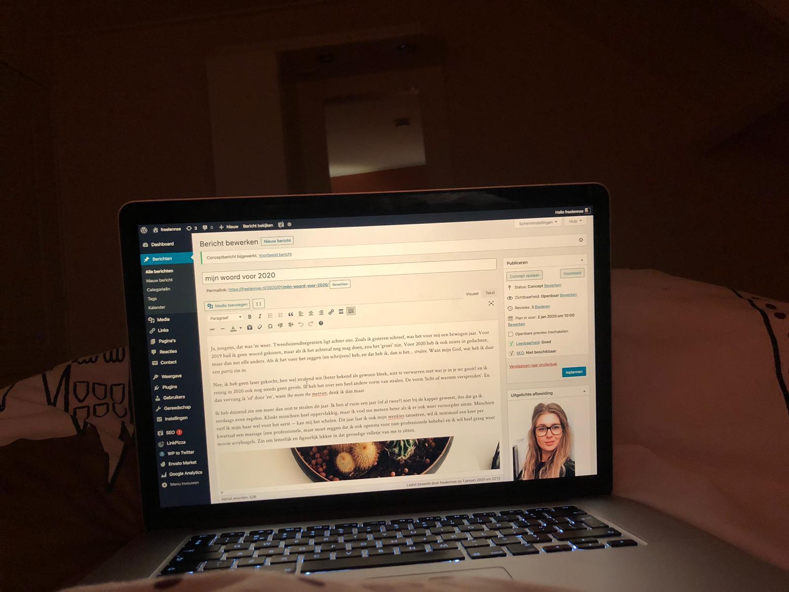 Bloggen in bed