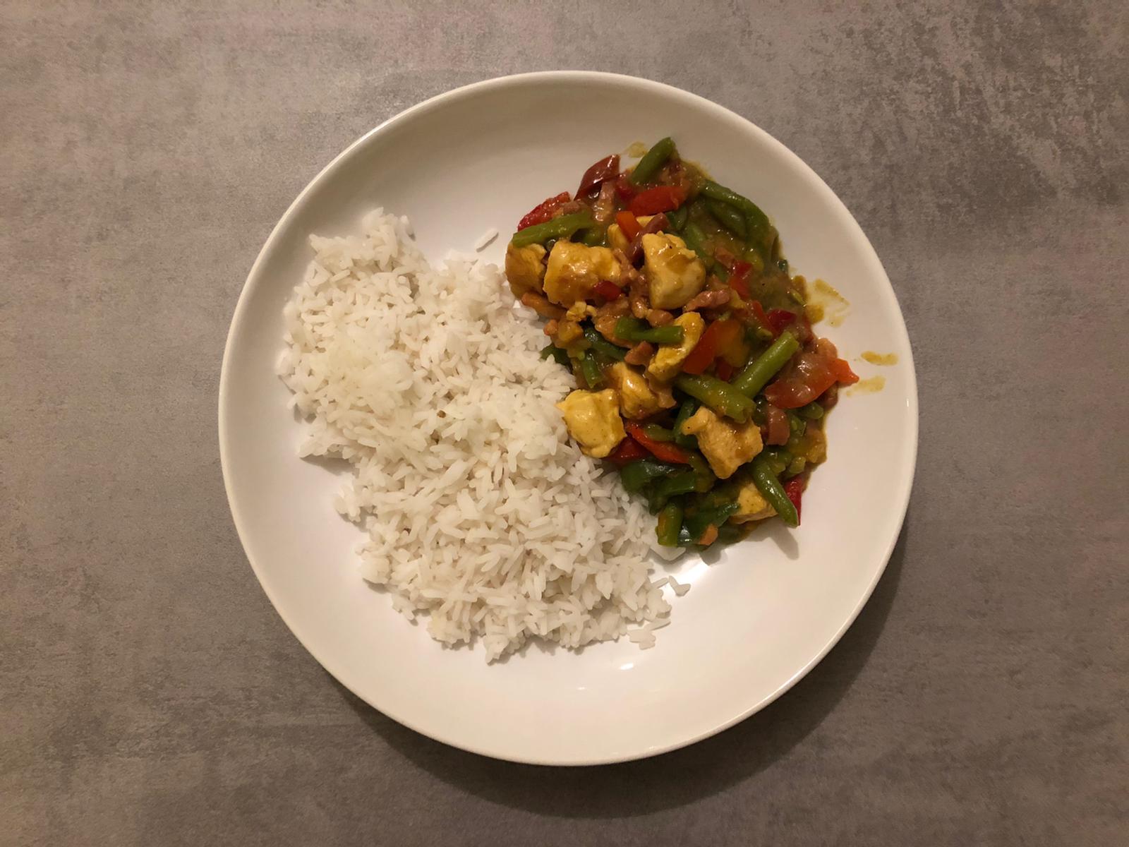 Kippie met rijst