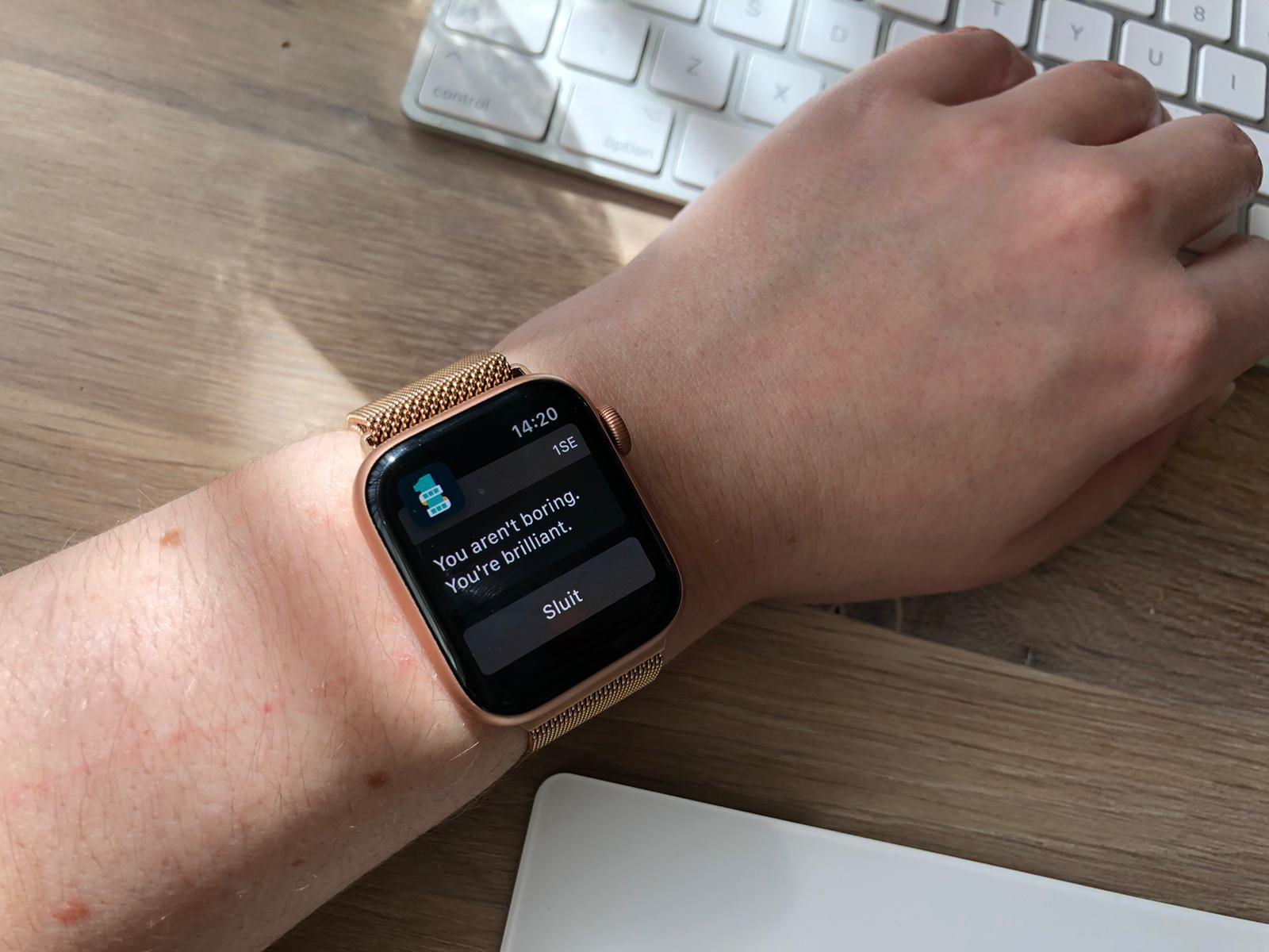 Apple Watch zegt slimme dingen