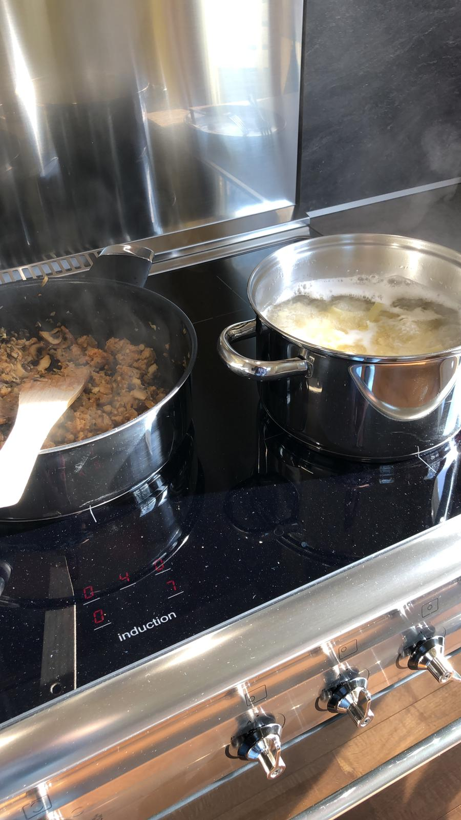 Koken met boodschappen van de boer