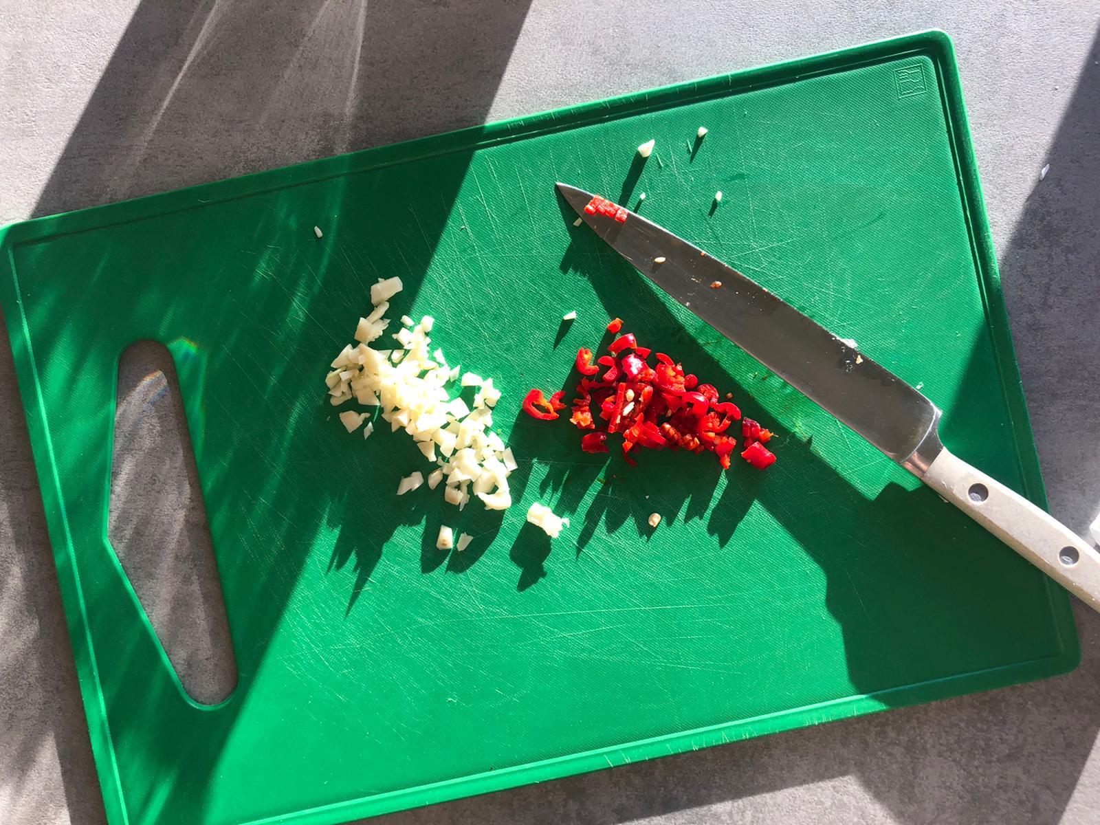 Peper en knoflook
