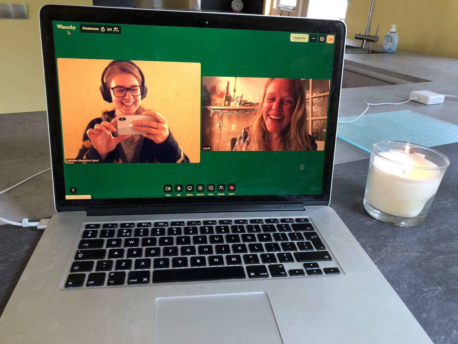 Copy koffie met Laurie van BusGordijn