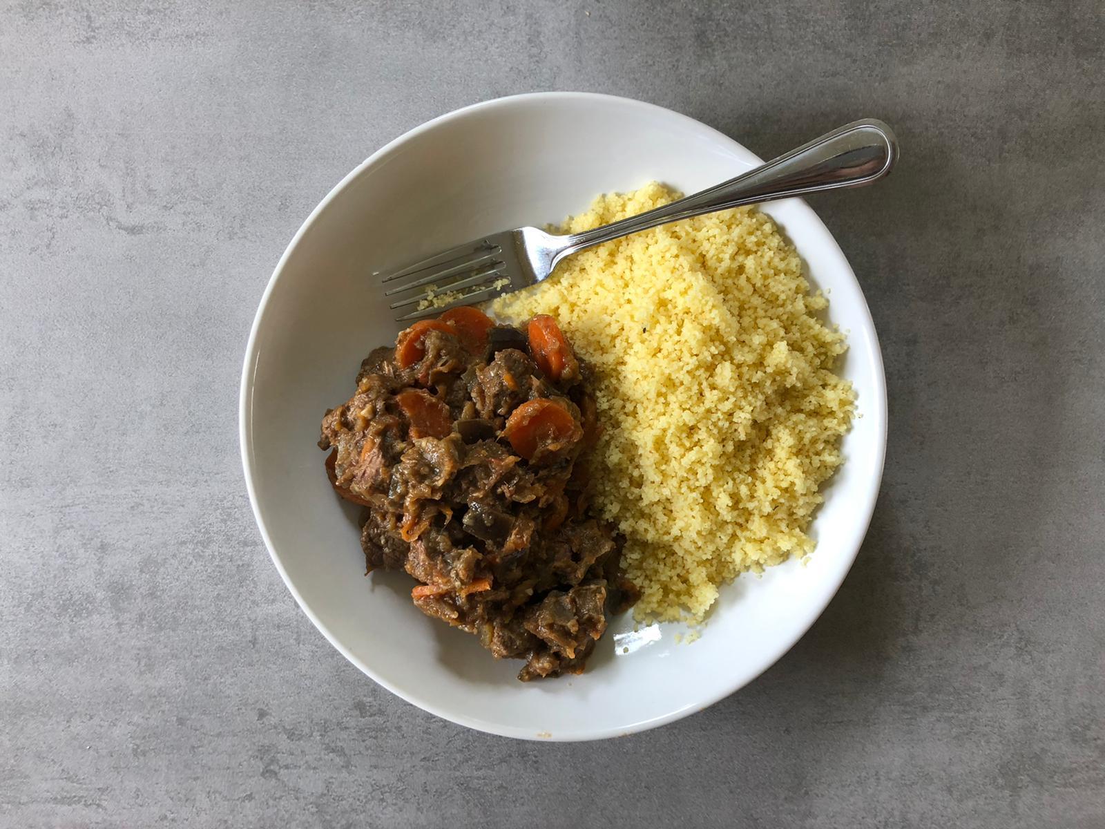Marokkaanse stoof met couscous