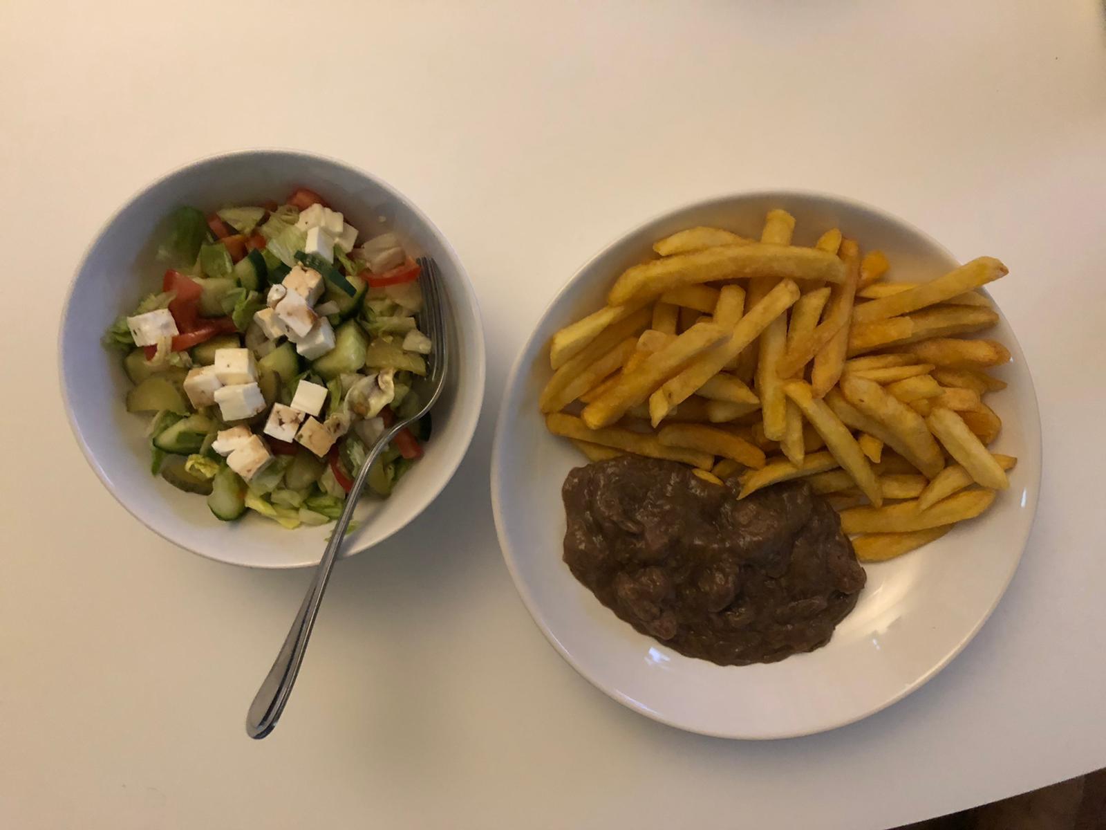 Patat met stoofvlees