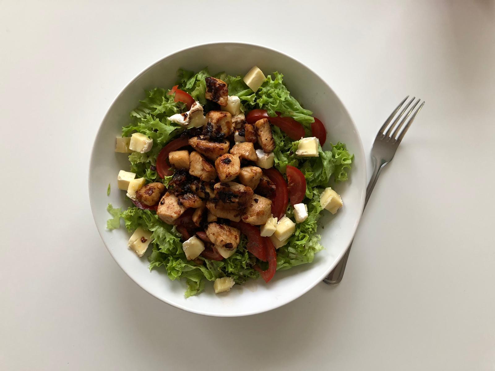 Salade gemaakt