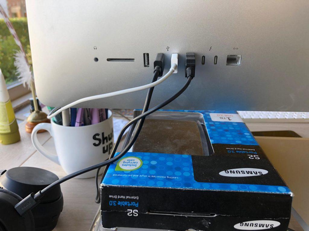 USB in 1 keer goed
