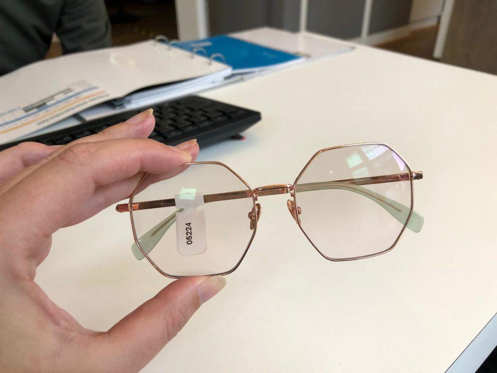 Nieuwe bril gekocht